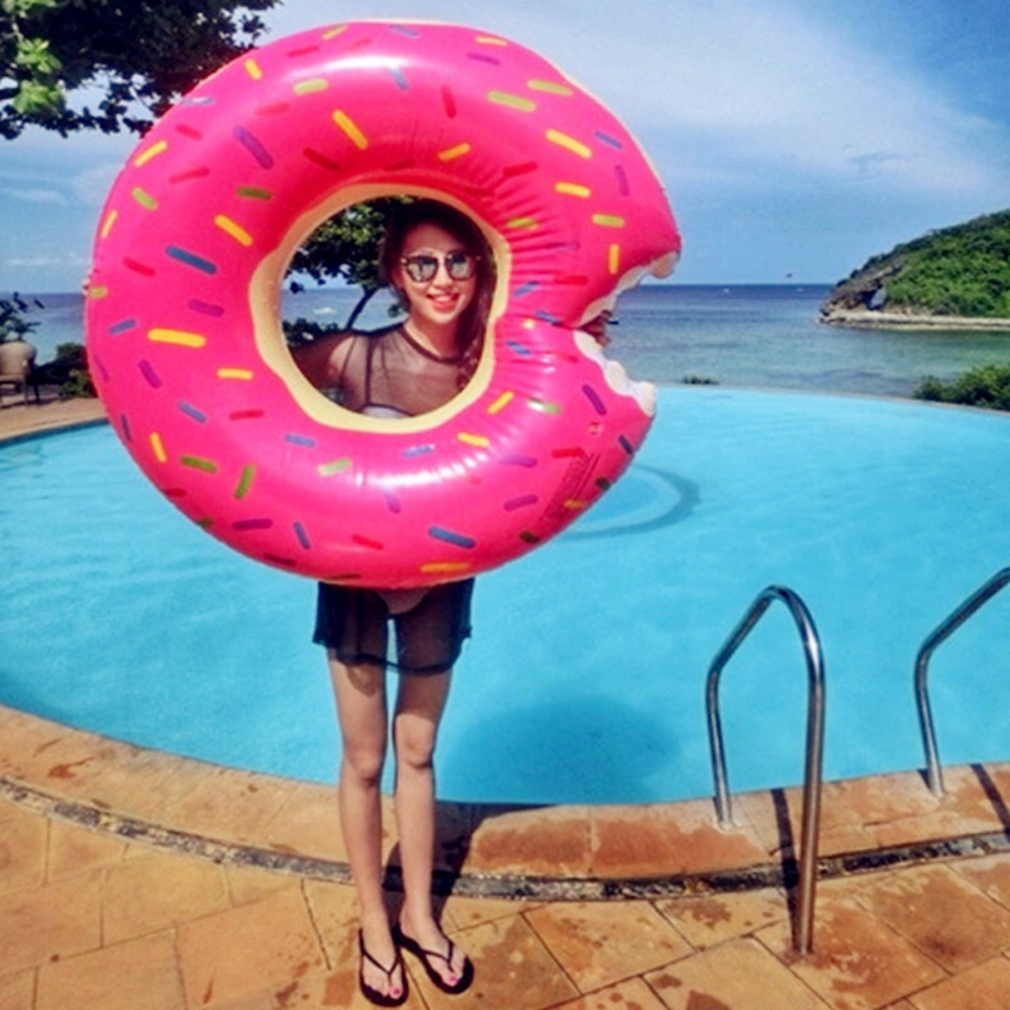 120cm Sweet Circle Adult Super Large Pool Inflatable Life Buoy Swim Ring ...