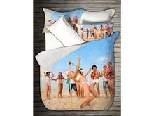 Комплект постельного белья двуспальный-евро VIRGINIA SECRET, Bamboo, пляж, 3D