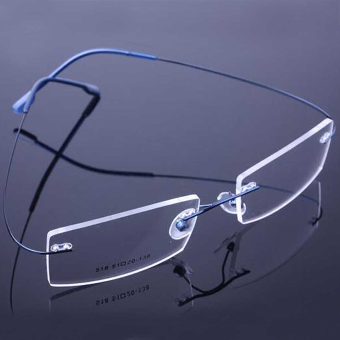 New Retail 9 Colors Lightweight Rimless Glasses Frames Memory Titanium Eyeglasses Spectacle Prescription Optical Frames