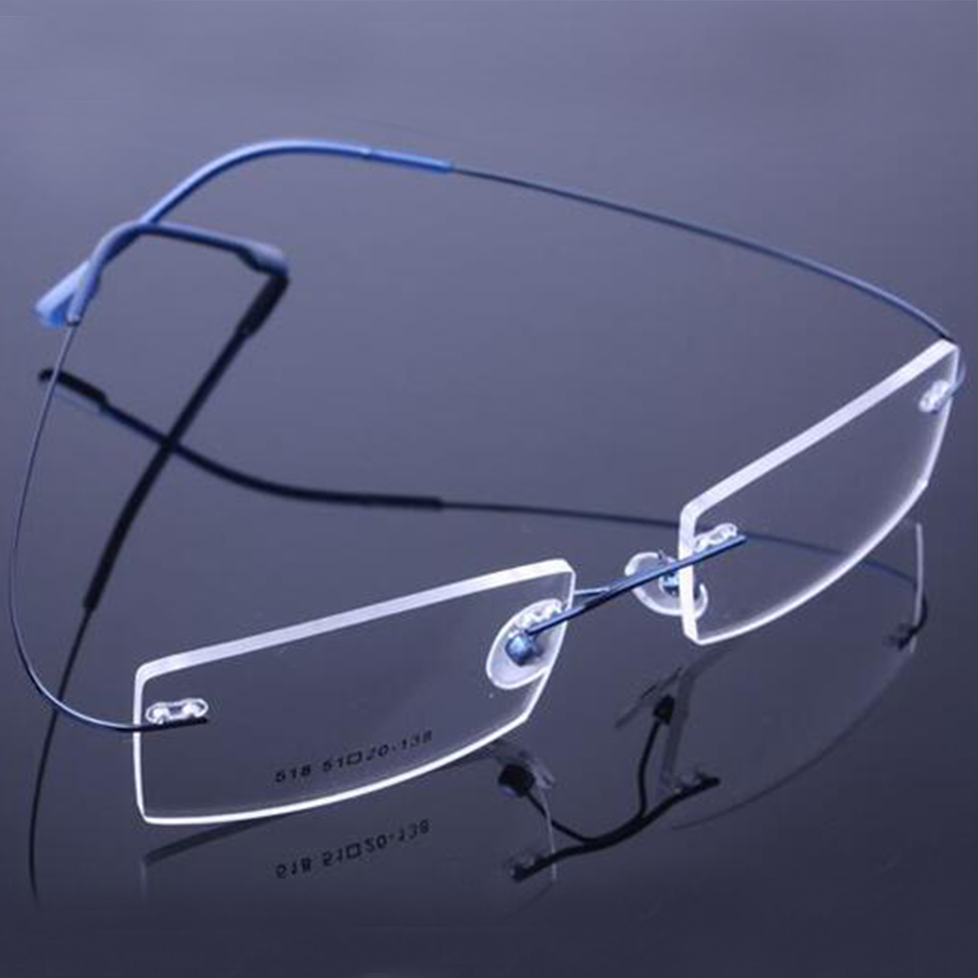 d6ba0f4474 2017 Retail 9 colors fashion rimless glasses frames fashion memory titanium  eyeglasses frames prescription