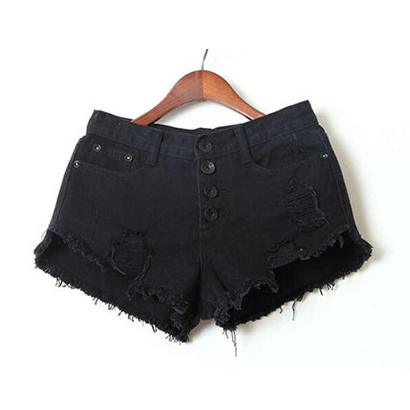 new arrivals famous brand first look Denim Shorts Women 2019 Fashion Ladies Tassel Hole High Waist ...