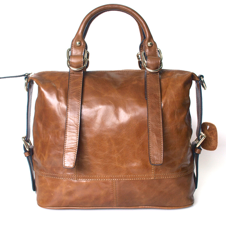 ФОТО Designer Women Shoulder Bags Genuine Leather Female Handbag Casual Tote Large Capacity Solid Bag