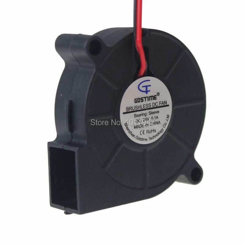 50 piezas Lot gdstime 24 V 2pin 50mm cooler Sopladores Turbo ventilador  5015 50x50x15mm 5c962bb59dd