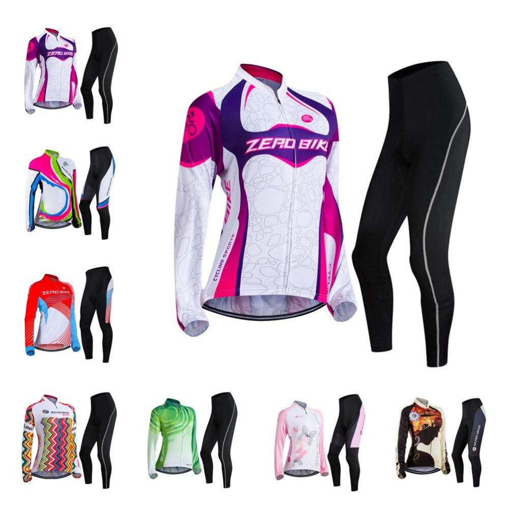 """""""ZEROBIKE Hot Women"""" dviračių sportinių trikotažo kelnių 3D gelis, aptrauktos sportinėmis MTB dviračių apranga, ilgomis rankovėmis, viršutinės kelnės ropa ciclismo bicicleta JAV Dydis"""