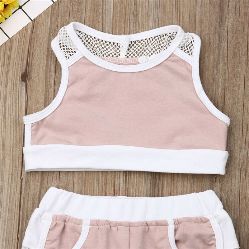 Summer 2pcs Outfits 2019 Pudcoco Newborn Infant Baby Girl Clothes Crop Tops Vest Long Pants Tracksuits baby girl Clothing 3