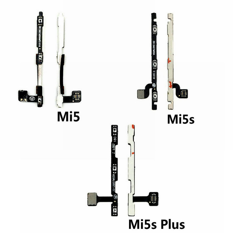 New High Quality Volume Button Flex Cable For Xiaomi MI5 Mi5S Plus Mi 5SPlus Phone Power On Off Key Flex Cable