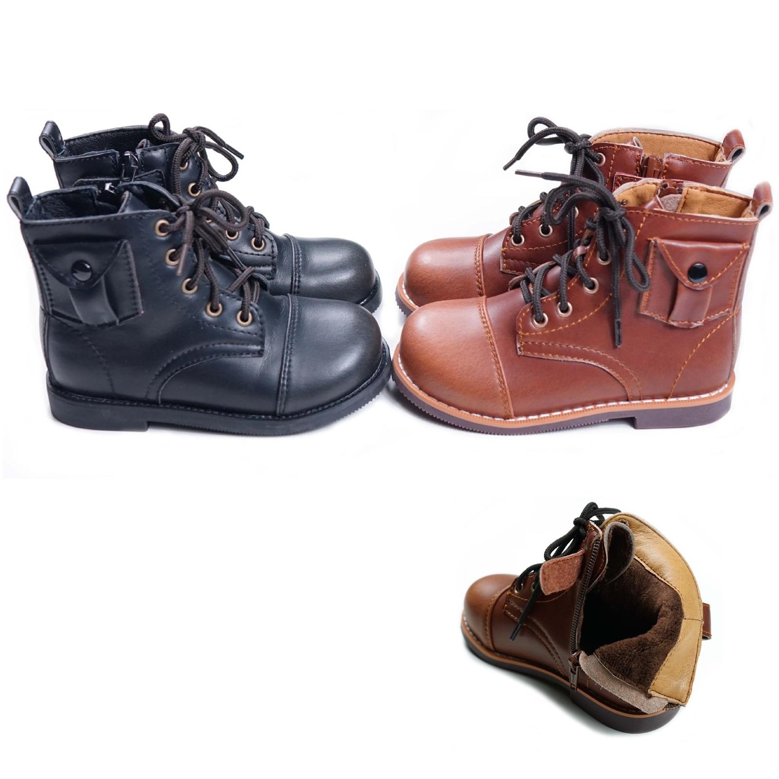 New Children Boots Winter Warm Plush Kids Martin Boots Fashion Shoes Boys Girls Snow Boots