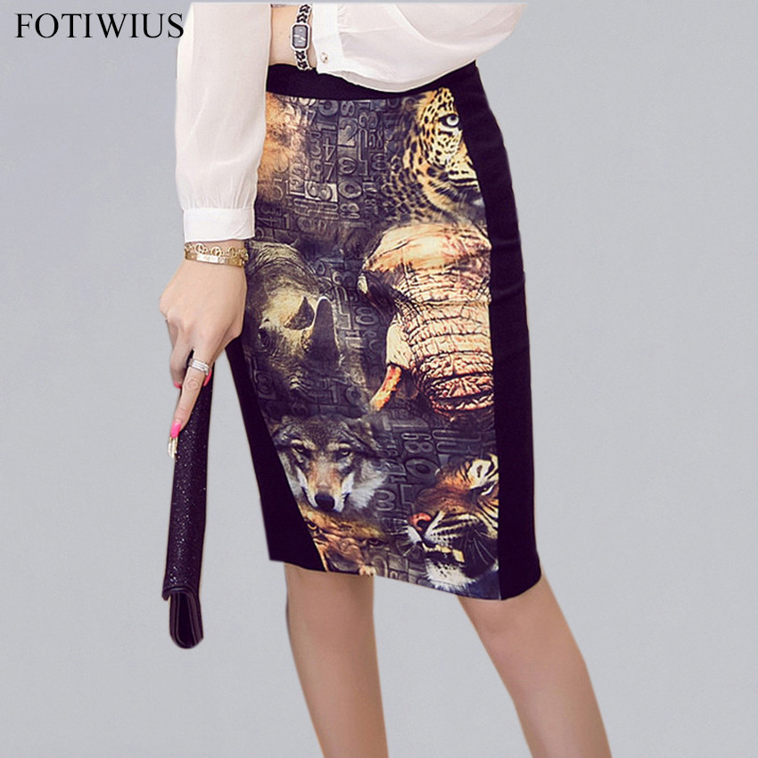 <font><b>5XL</b></font> Plus Size <font><b>Sexy</b></font> <font><b>Skirts</b></font> Womens High Waist Pencil <font><b>Skirt</b></font> Spring 2020 Vintage Print Ladies Office <font><b>Skirt</b></font> Saia Midi Jupe Femme image
