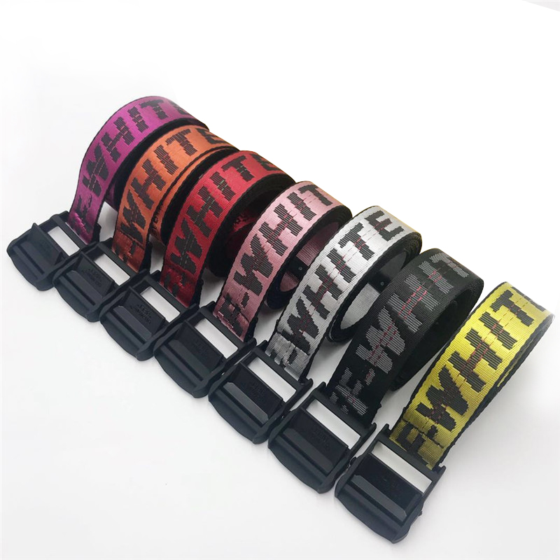 Fashion New Industrial   Belt   Street Style Letter Print Canvas   Belt   for Women 100-200cm Punk Hip-pop Accessories Waist   Belts