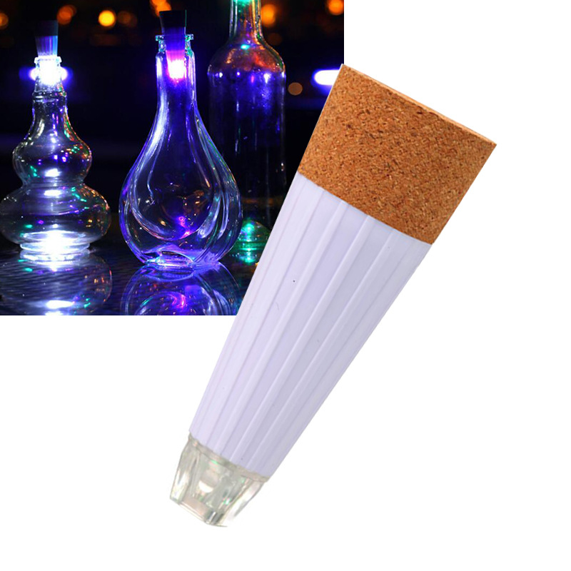 1pc LED Wine Bottle Night Light Magic Cork Shaped USB Rechargeable Cork Stopper Cap Lamp Christmas Decor Creative Romantic White