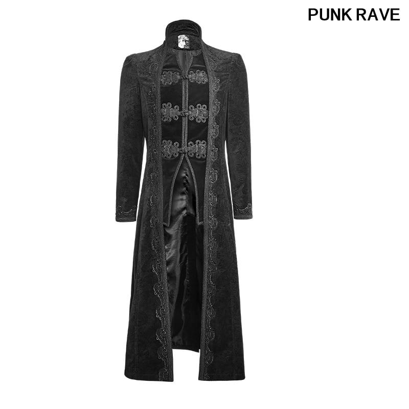Gothic Palace Jacquard Party Vintage Paisley Classical Men Coats Gorgeous Retro Flower Pattern Long Jacket PUNK RAVE Y 651