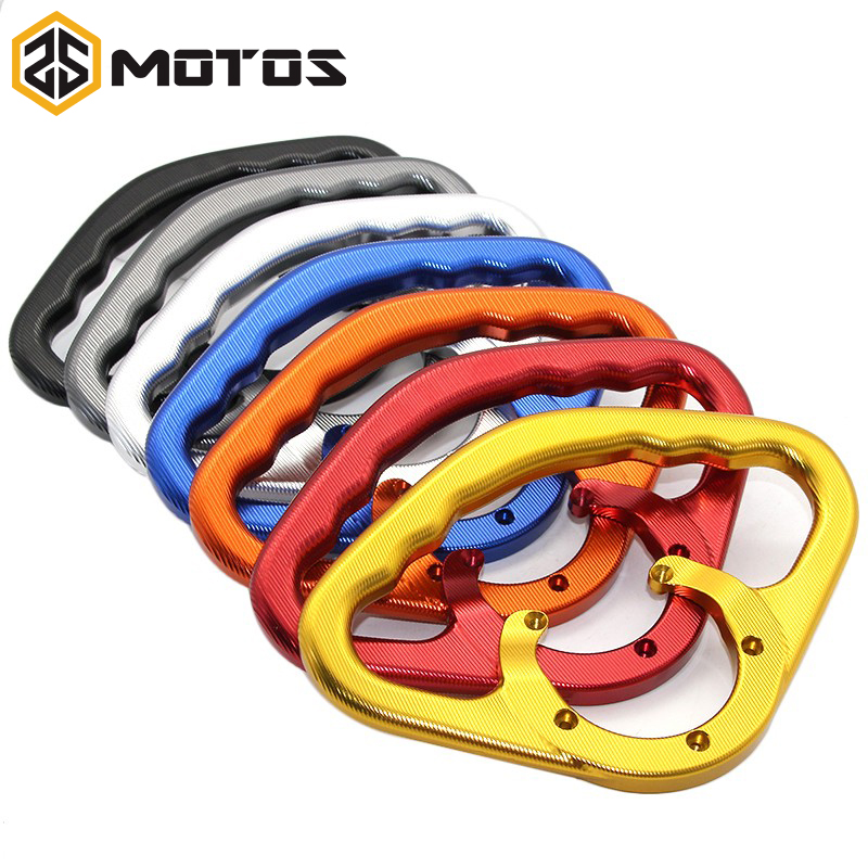 ZS MOTOS Passenger Safety Handle Motorcycle Front Tank Handrails for Suzuki GSXR GSX-R 600 750 GSXR600 GSXR750 2001-2014 large size 7cm 7cm motorcycle gsxr gsx r brake oil reservoir sock fluid tank cup cover cuff sleeve for suzuki blue black red
