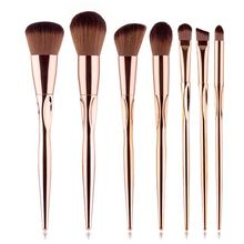 High Quality Makeup Brush Set 7pcs Special Professional Real Brushes Heart Shaped Brushes Soft Bristle Makeup Tool Kits soft bristle makeup brush 15pcs