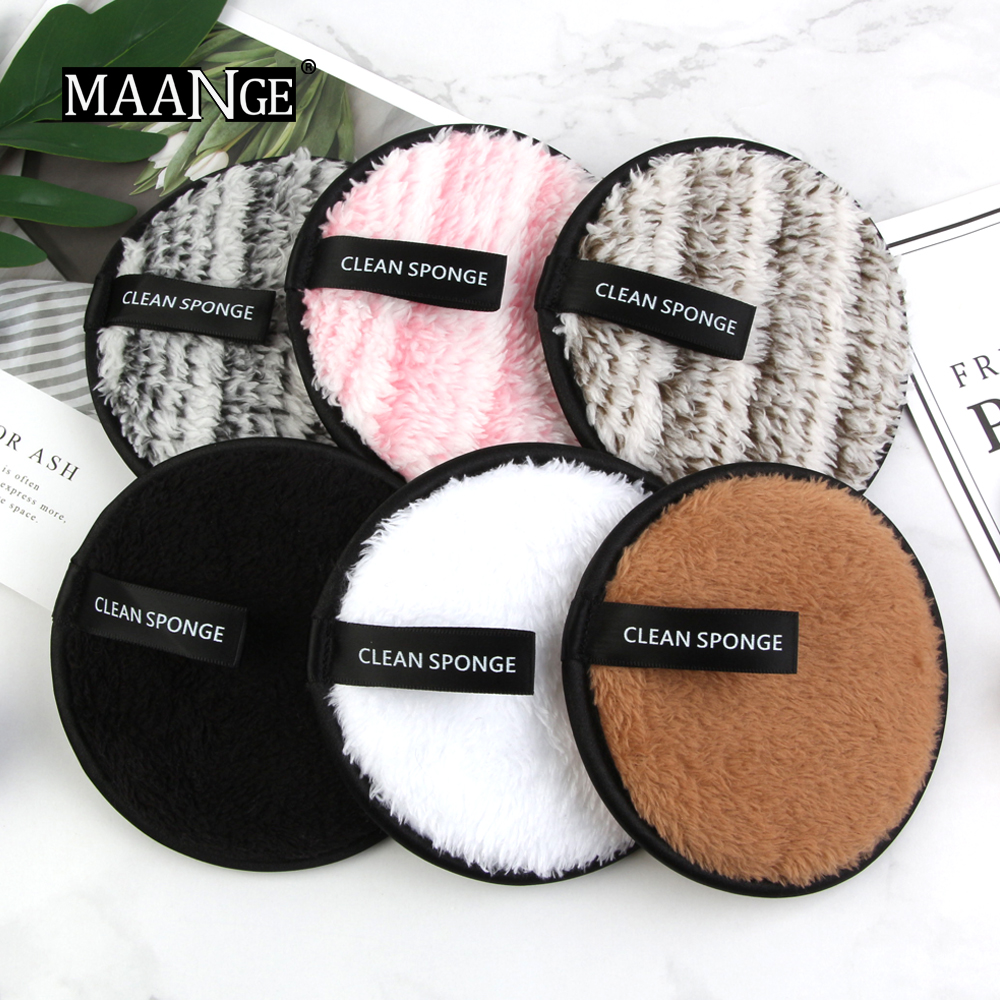 1/3pcs Microfiber Cloth Pads Facial Makeup Remover Puff Cotton Double layer Face Cleansing Towel Reusable Nail Art Cleaning Wipe 1