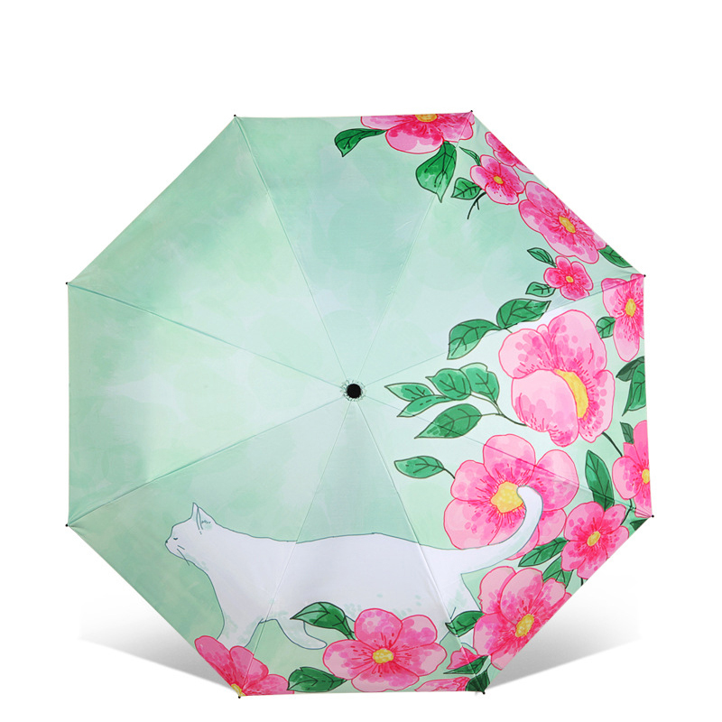 Friends Novelty Birthday Gifts Presents Custom Indiana State Flag Compact Foldable Rainproof Windproof Travel Umbrella