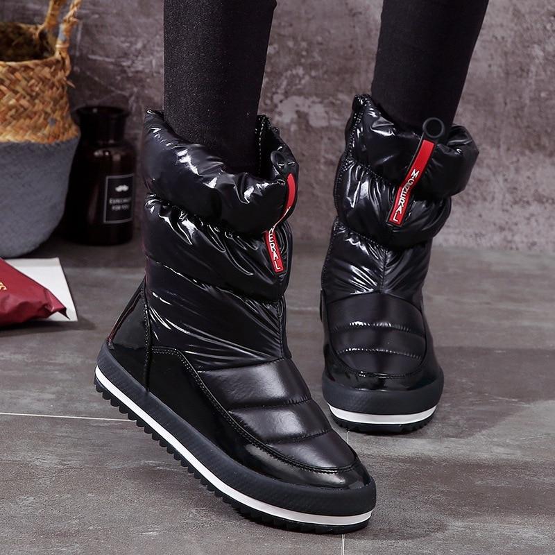 QUANZIXUAN Waterproof Women Snow Boots 2018 Brand Women Winter Boots Women ankle Boots Fashion Keep warm Women Shoes girlw boots fashion keep warm winter women boots snow boots 2017 buckle cotton boots women boots shoes