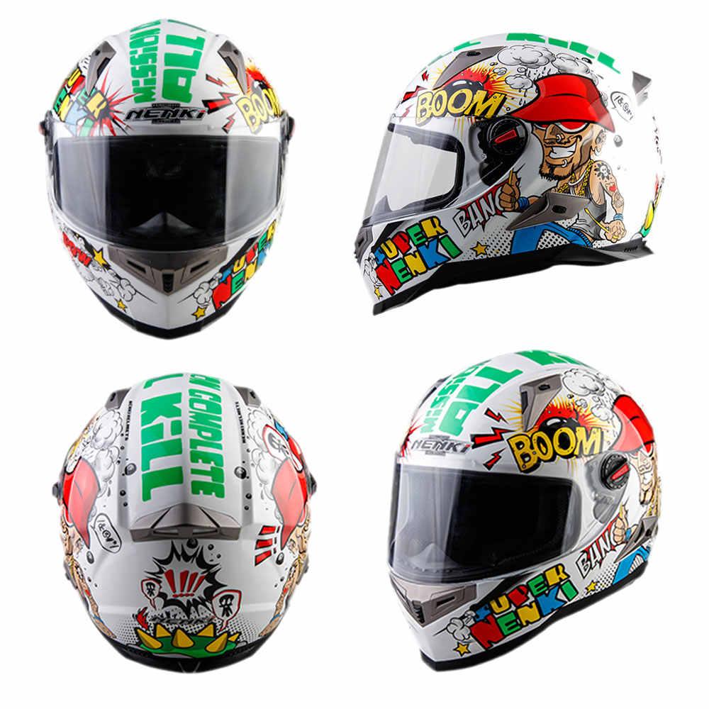 Casco de Moto nenki hombres cara completa Casco Moto en Material ABS Motocross Casco Moto de la CEPE certificación Casco Moto #