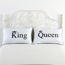 king queen a pair couple 2pcs pillow case single pillowcase 48x74cm twin size pillow cover bedding