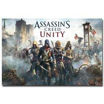 Шелковый Плакат гобелен Кредо убийцы Assassins Creed 3 в ассортименте 2