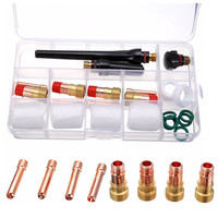 23pcs Professional Tig Welding Torch Gas Lens Kit With 4pcs 10 Pyrex Cup For Tig WP