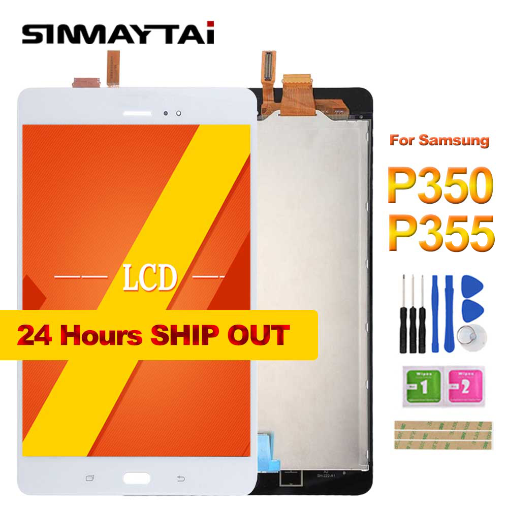 8 P350 LCD For Samsung Galaxy Tab A SM-P350 P350 SM-P355 P355 LCD Display Matrix + Touch Screen Digitizer Full Assembly
