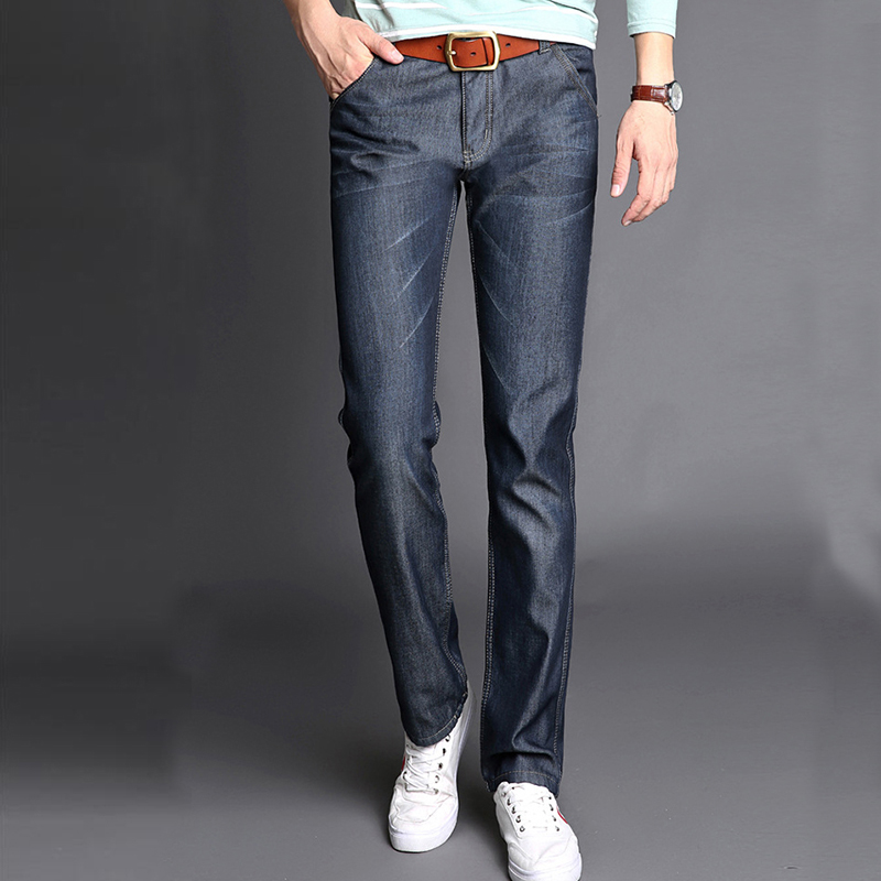 New Mens Winter Jeans Stretch Thicken Jeans Warm Fleece High Quality Denim Biker Jean Pants Trousers Size 28-38 Hot Sale Jeans new arrival winter fleece warm jeans high quality men blue denim plus size pants thicken jean slim trousers 100607