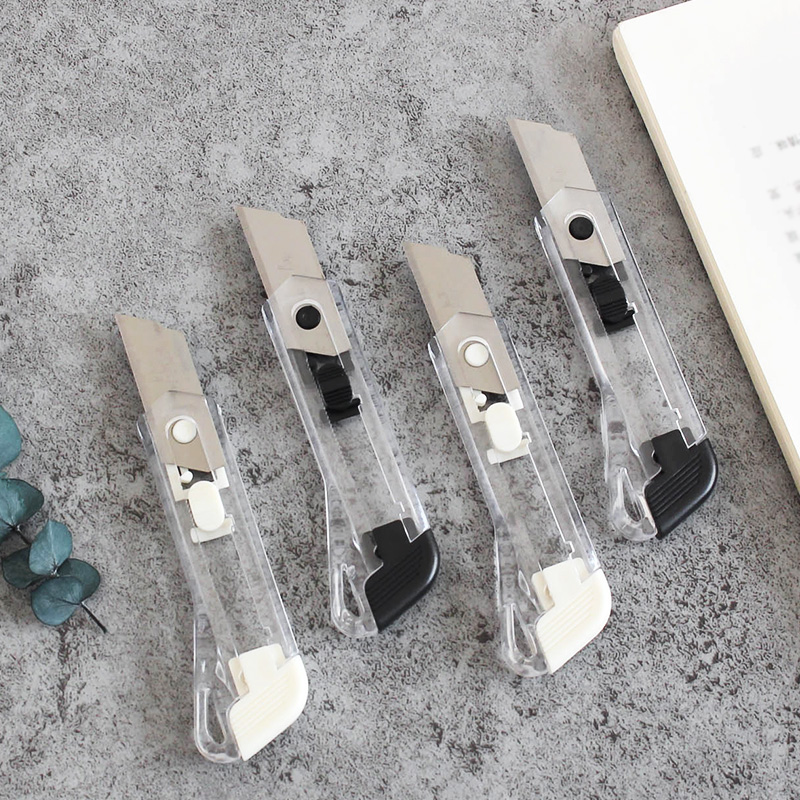 Black White Art Knife Art Supplies Utility Knife Paper Office Knife Diy Art Cutter Knife Stationery School Tools Paper Cutter