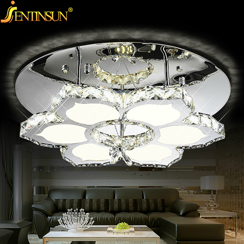 Factory Whole Simple Home Lamps For Living Room Ceiling Lights Flower New Style Led Lamp Fan Crystal Lighting In From