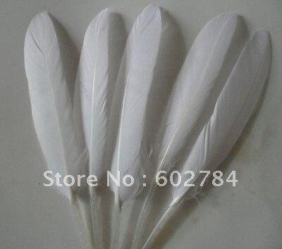 """200 шт гусиные перья белые 6-"""" 10-15 см гусиные перья утиные перья staight для бесплатной доставки"""