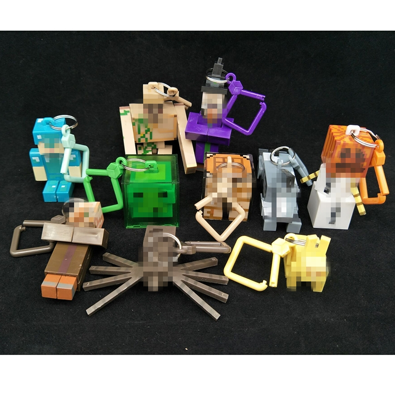 36pcs/set Action Figure Minecraft First Generation 3D Anime Toys Characters Micro World Game Toy Keychain Boys Kid Toy Wholesale all characters tracer reaper widowmaker action figure ow game keychain pendant key accessories ltx1