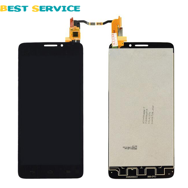 For Alcatel One Touch Idol X OT6040 6040 6040D 6040E 6040A OT-6040D LCD Screen Display + Touch Screen Digitizer Assemblely Black