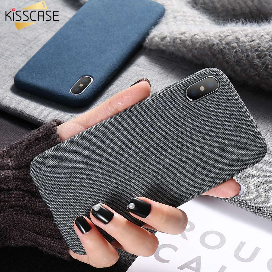 KISSCASE Cloth Patterned Case For iPhone XR X XS Max Soft Phone Cases For iPhone 8 7 6S 6 Plus Original Cover Accessories Fundas