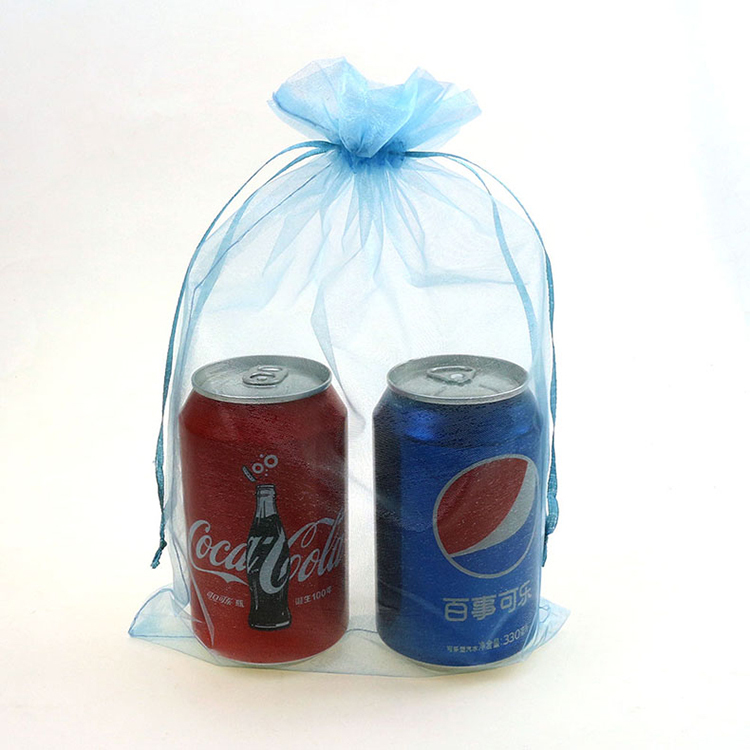 20x30cm Blue Organza Jewelry Bags Gift Bags Christmas Gift Promotion Weeding Customized  ...