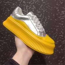 FeiYiTu 2019 Spring Women Flats Shoes 6cm Platform Sneakers Slip On Flats Ladies Loafers Moccasins Casual Shoes Eu Size 35-39 cootelili women sneakers platform casual shoes woman flats slip on letter loafers ladies black gray blue red plus size 40 41 42