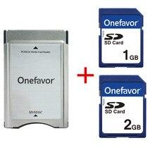 ¡Nuevo! 1GB 2GB SD SDHC tarjeta de memoria SD + SD SDHC Adaptador convertidor de tarjeta para Mercedes Benz