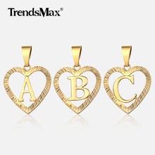 Alphabet Charm Heart Pendant Necklace A-Z Initial Letter Pendant Gold Color Women Girl Jewelry Gift  Amazing Price GP373 a suit of stylish solid color heart shape letter carving pendant necklace for women