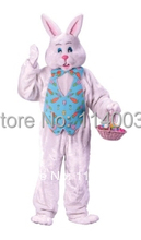 mascot Pink Easter Bunny rabbit Mascot Costume Cartoon Character carnival costume fancy Costume party(China)
