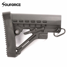 New Style Rubber Butt Pad with Ergonomic Design for 5.56 Buttstock 6 Position Butt Stock Recoil of Hunting Accessories