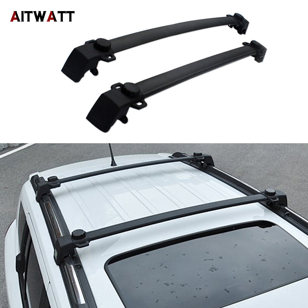 Roof Rack For Jeep Compass Cross Bar 2011-2016 Aluminum Luggage Pair Black