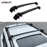 Roof Rack Fit For Jeep Compass 2011 2016 Aluminium Alloy Side Rails Cross Bars Luggage Carrier Black Roof Rack 2Pcs Car Styling|Roof Racks & Boxes|Automobiles & Motorcycles -