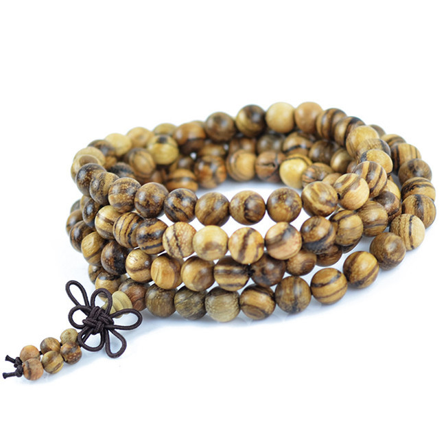 Authentic Vietnamese agarwood incense 108 beads 6-8mm fashios