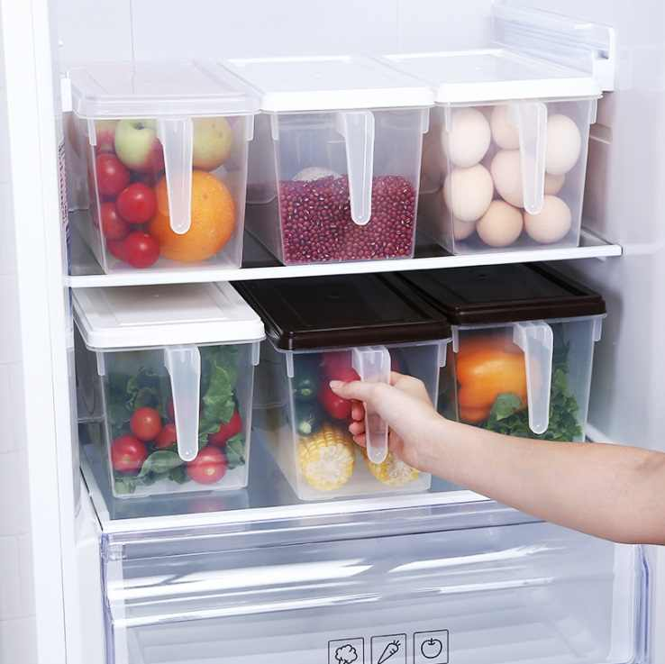 Refrigerator Storage Boxes Kitchen Transparent PP Storage Box Grains Beans Storage Contain Sealed Home Organizer Food Container