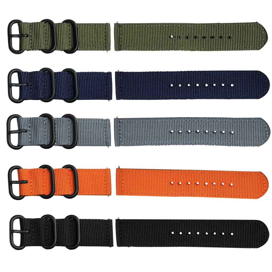 Canvas Nylon Wristband Strap For Xiaomi Amazfit Stratos 2 Pace Straps For Amazfit Bip Watch band For Samsung Gear S3 S2 Bracelet05