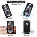 Esporte natação mergulho waterproof case para iphone 6 ip68 à prova d' água à prova de choque snowproof capa para iphone 6 s com colhedor