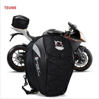 Motorcycle Tail Bags Back Seat Bags Kit Travel Bag Motorbike Scooter Sport Luggage Rear Seat Rider Bag Pack