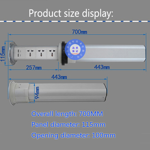 Image 2 - Pantalla táctil de potencia Universal, elevador inteligente para cocina, alta calidad, hogar, multifunción oculta, enchufe de escritorio, carga por USB de oficina