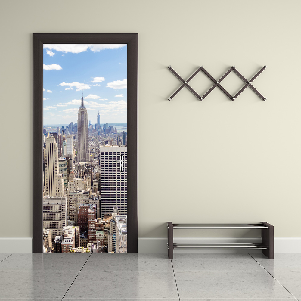 popular poster mural new york buy cheap poster mural new york lots 2 pcs set manhattan new york wall stickers diy mural bedroom home decor poster pvc