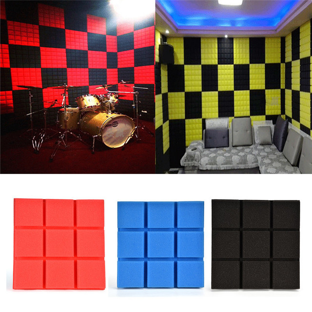 1pcs Soundproofing Foam Acoustic Panels Noise Reduction Absorption Wedge  Tiles Sound Insulation KTV Studio Room Wall