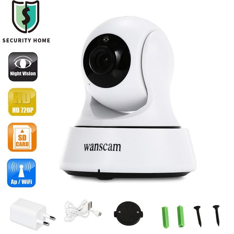 imágenes para Wanscam Home cámaras de Seguridad Ip Inalámbrica Mini cámara de Vigilancia Cámara IP Wifi 720 P de Visión Nocturna CCTV Cámara de Monitor de Bebé