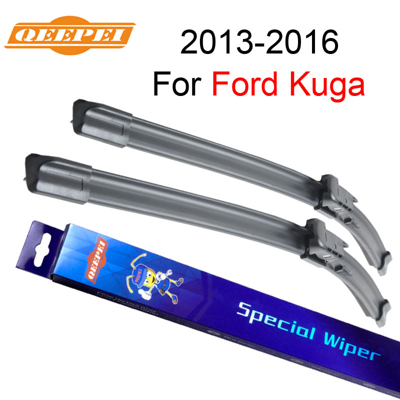 QEEPEI Wiper Blades For Ford Kuga MK2 2013-2016 28+28R High Quality Natural Rubber Clean Front Windshield CPB1